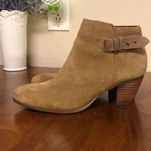 Guess Suede Booties With Buckle